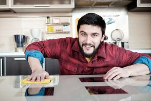 Bearded man in the kitchen